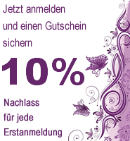 Promotion 10% Rabatt bei Erstanmeldung